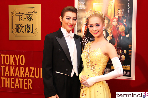 宝塚歌劇 月組公演 『グランドホテル』『カルーセル輪舞曲』珠城 りょう、愛希 れいか囲み取材