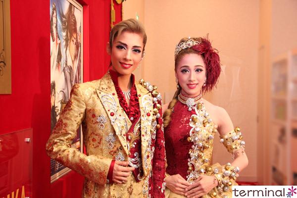 宝塚歌劇花組公演『邪馬台国の風』『Santé!!』明日海 りお、仙名 彩世 囲み取材