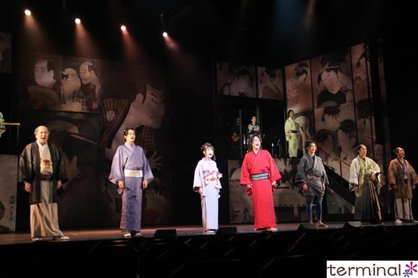 cube 20th Presents Japanese Musical『戯伝写楽 2018』開幕 舞台稽古写真