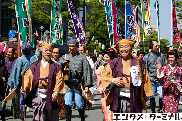 武田鉄矢・コロッケ黄門ご一行 どんたくパレードで一緒に改元を「祝うたァ!」レポート到着!